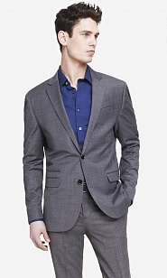 Medium gray wool blend photographer suit