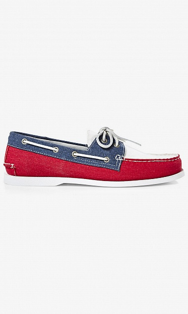 Fabric boat shoe