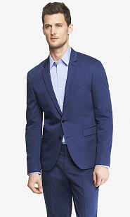 Blue cotton sateen innovator suit