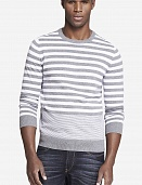Sweater mixed stripe crew neck