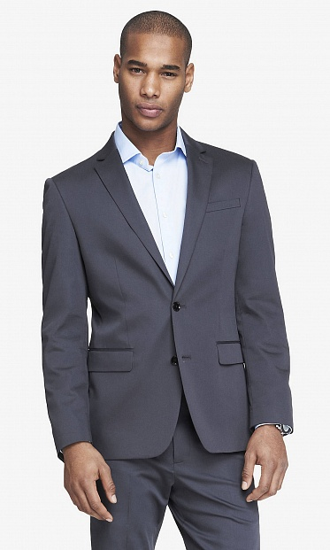 Gray producer suit jacket