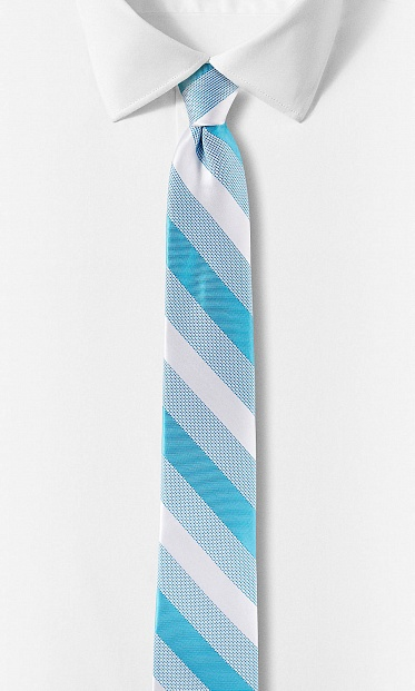 Diagonal stripe narrow tie