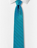 Tall reversible silk tie - dot stripe