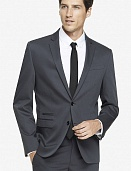 Gray cotton sateen photographer suit jacket