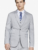 Light gray oxford cloth producer suit jacket