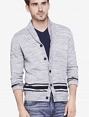 Bold stripe shawl cardigan